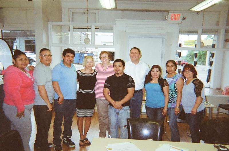 Recent class graduates at Park Avenue Neighborhood Center